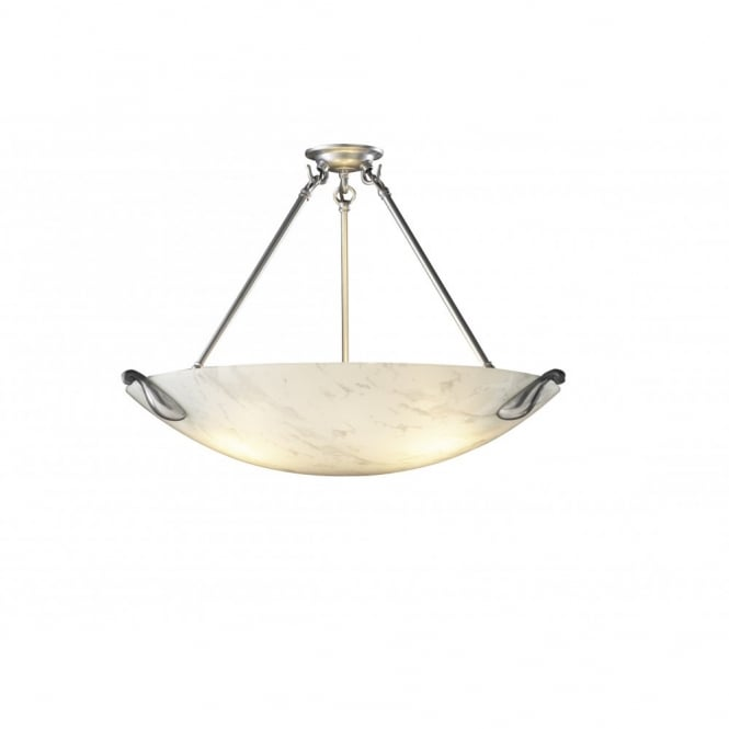 The David Hunt Lighting Collection SAVOY white marble uplighter pendant