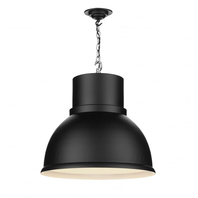 SHOREDITCH retro style ceiling pendant light in black
