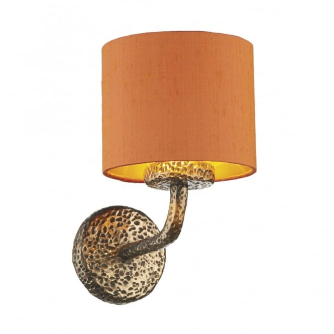The David Hunt Lighting Collection SLOANE decorative rustic bronze wall light with shade