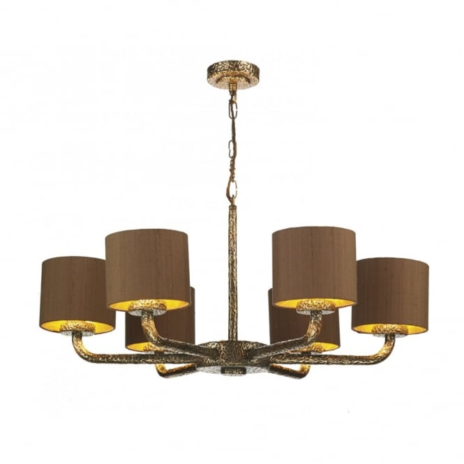 The David Hunt Lighting Collection SLOANE dual mount bronze ceiling light complete with shades