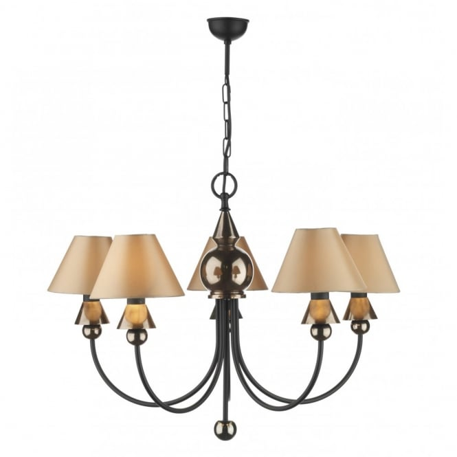 The David Hunt Lighting Collection SPEARHEAD black bronze ceiling light