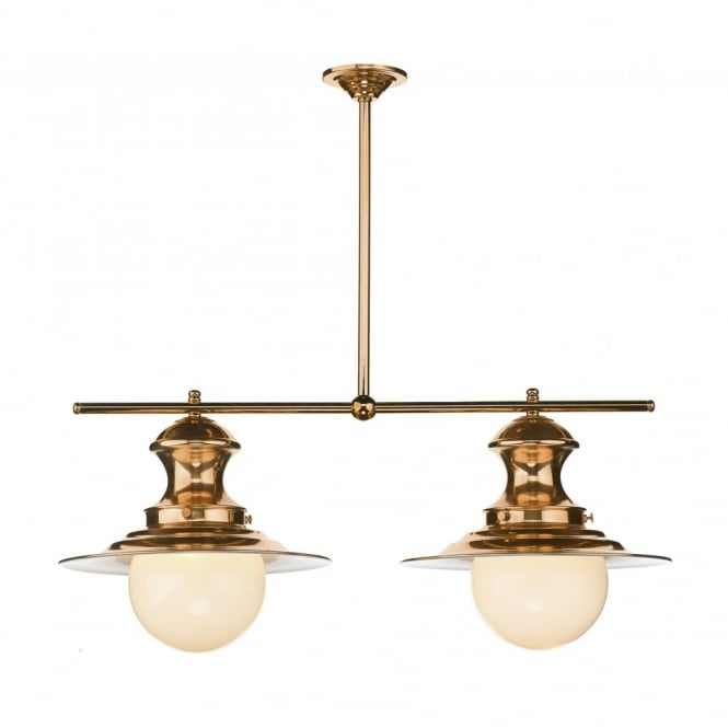 The David Hunt Lighting Collection STATION LAMP 2 light copper ceiling pendant