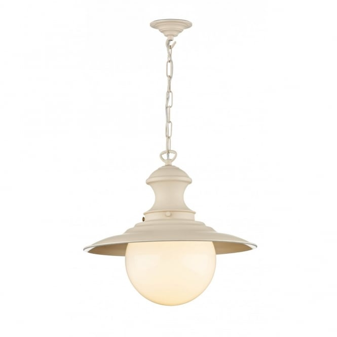 The David Hunt Lighting Collection STATION LAMP cream pendant light