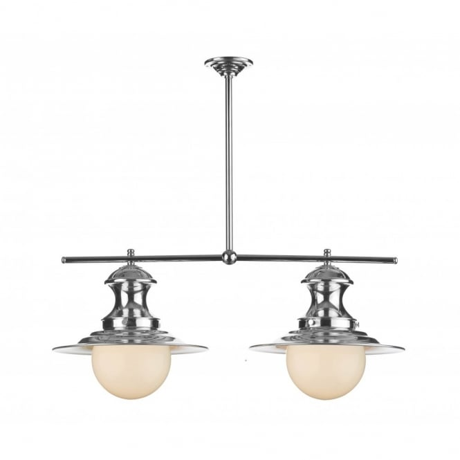 The David Hunt Lighting Collection STATION LAMP double chrome pendant