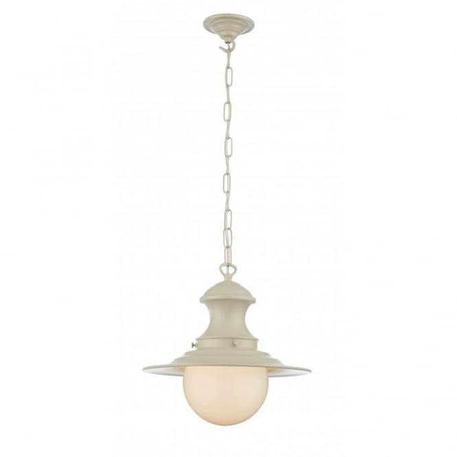The David Hunt Lighting Collection STATION LAMP small cream pendant light