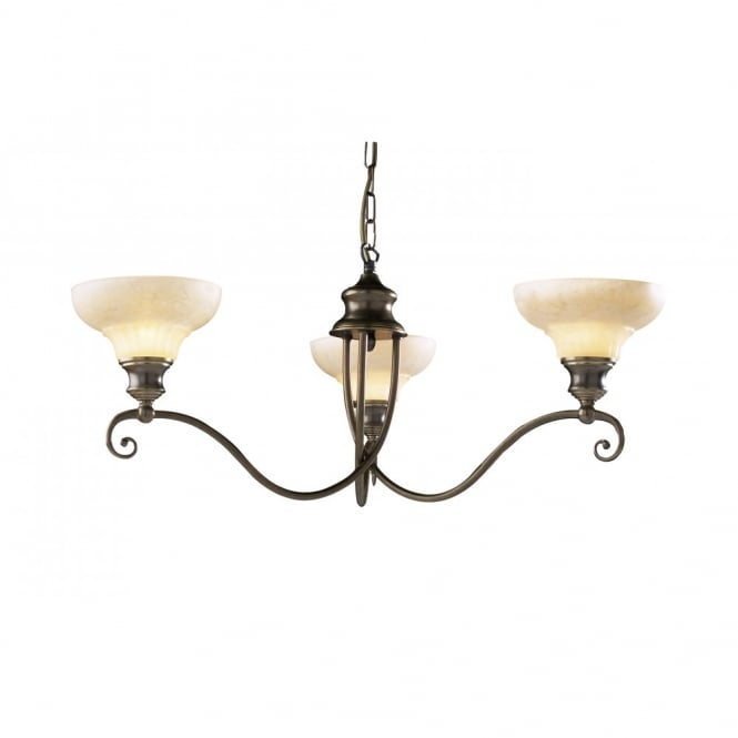 The David Hunt Lighting Collection STRATFORD aged brass ceiling pendant