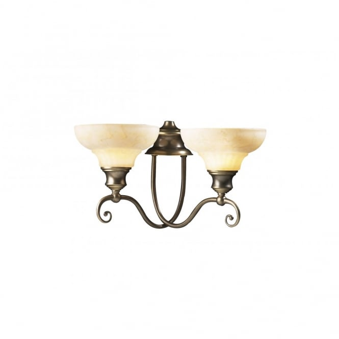 The David Hunt Lighting Collection STRATFORD aged brass wall light
