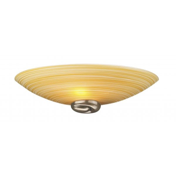 Amber Glass Wall Lights : Swirl Amber Glass Wall Washer Wall Light with Bronze Detail