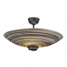 SWIRL treacle glass ceiling uplighter