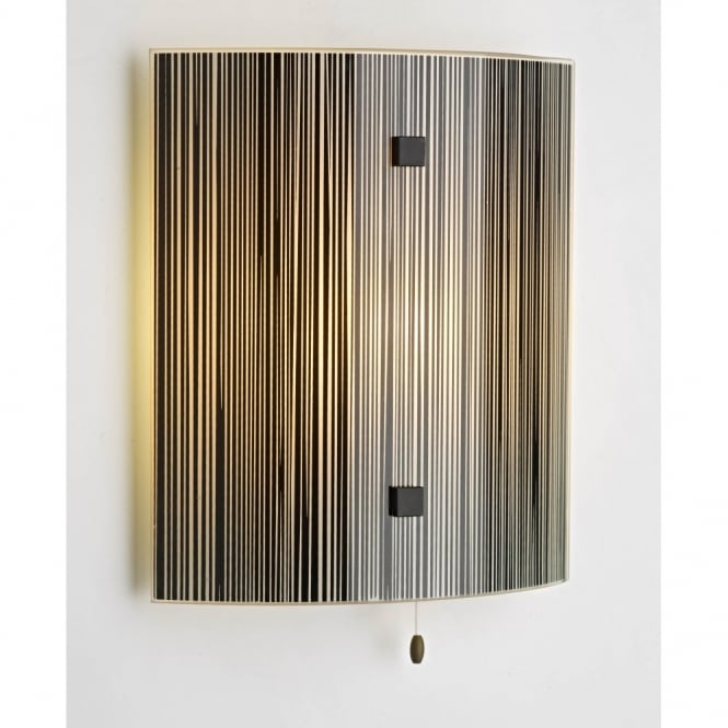 The David Hunt Lighting Collection SWIRL treacle glass panel wall light