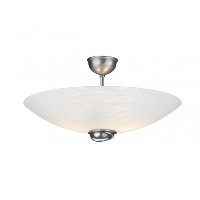 The David Hunt Lighting Collection SWIRL white glass ceiling uplighter