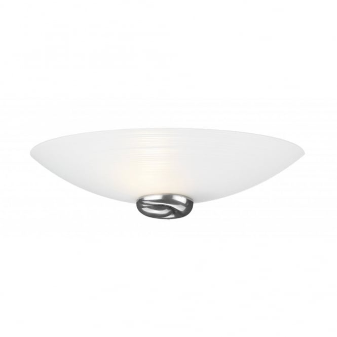 The David Hunt Lighting Collection SWIRL white glass wall light