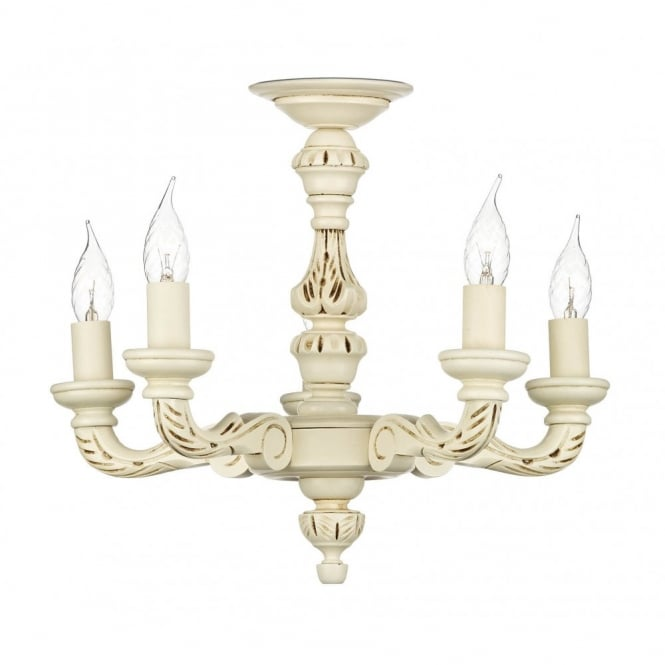 The David Hunt Lighting Collection TUDOR traditional ivory ceiling light