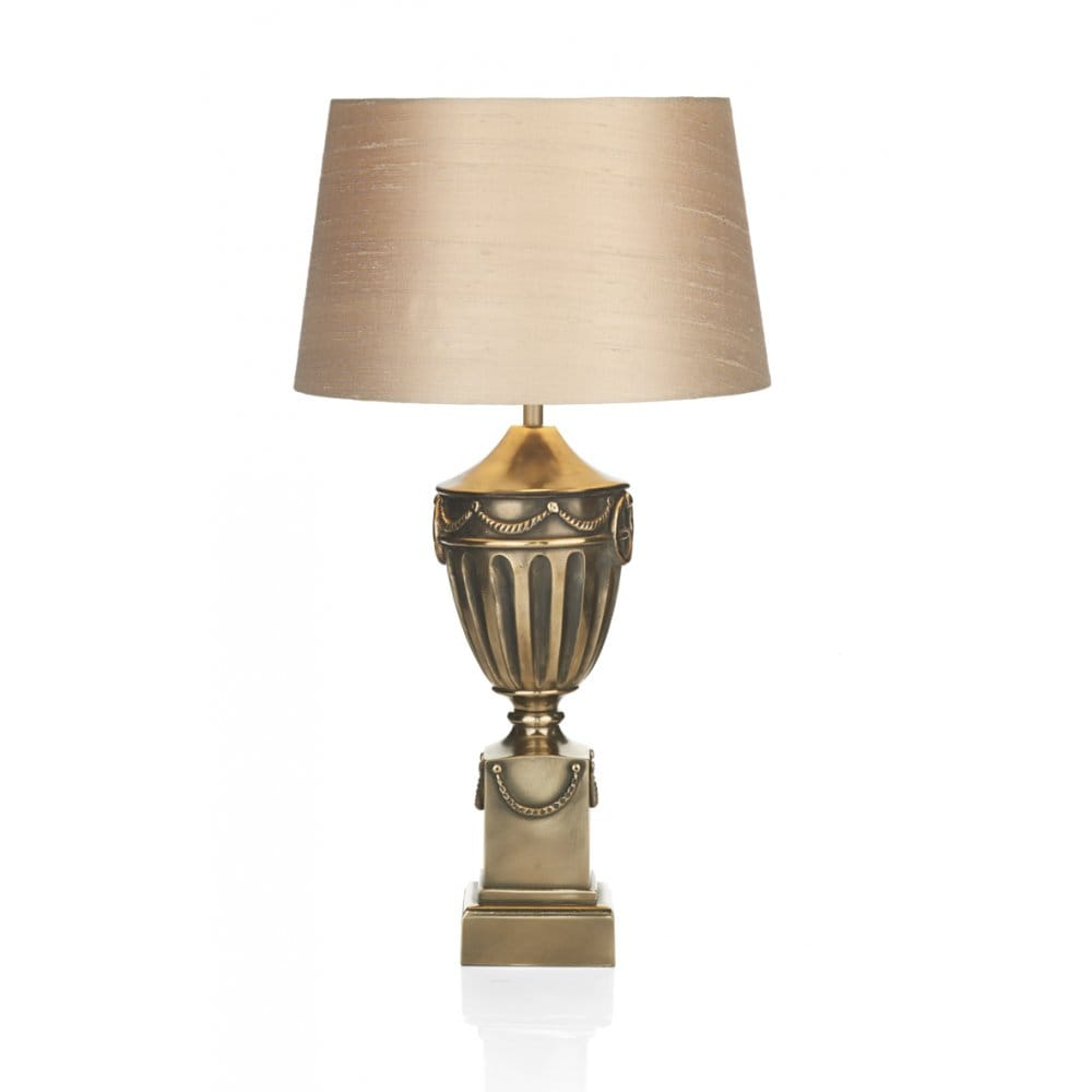 Rustic Bronze Urn Table Lamp Base Switched Double