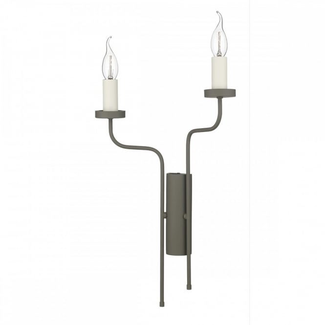 The David Hunt Lighting Collection VAIL double wall light in mole brown finish (left)