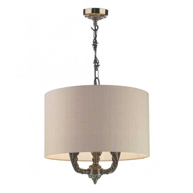 The David Hunt Lighting Collection VALERIO bronze ceiling pendant light