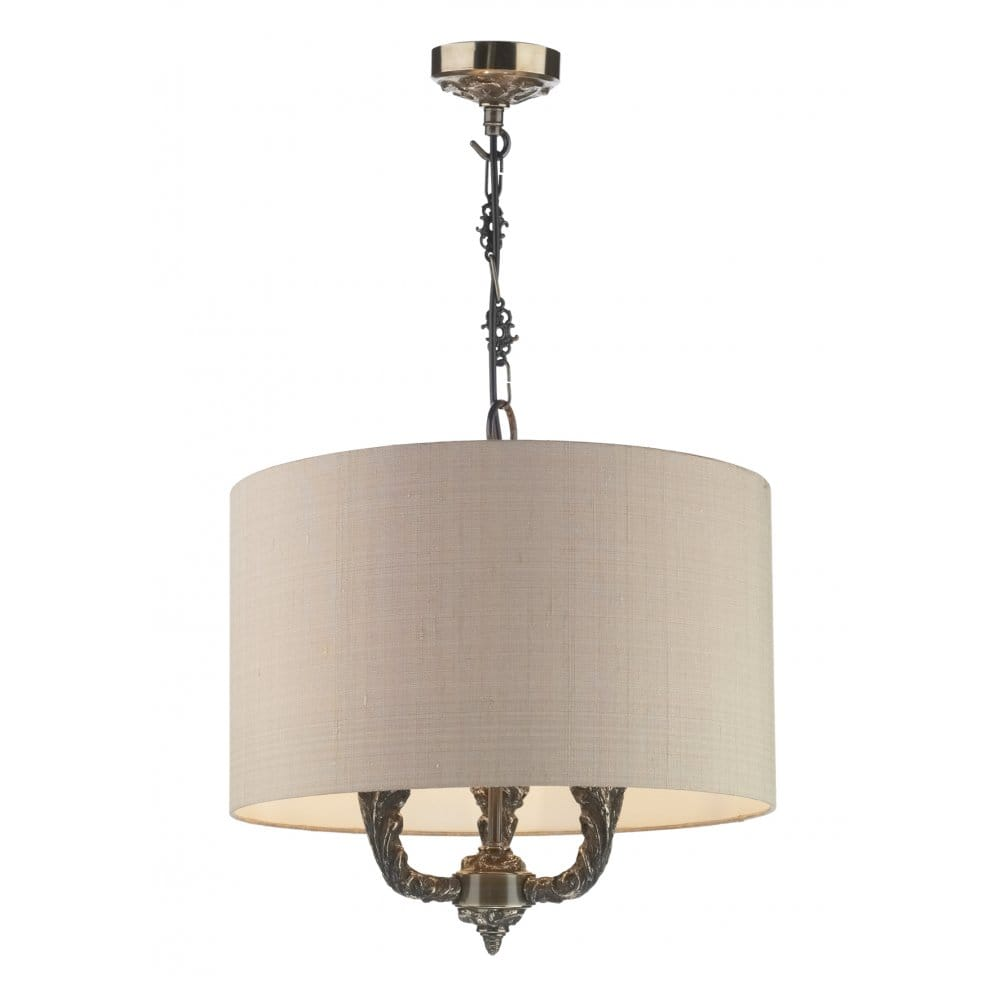 Valerio Traditional Bronze Ceiling Pendant On Chain With Shade
