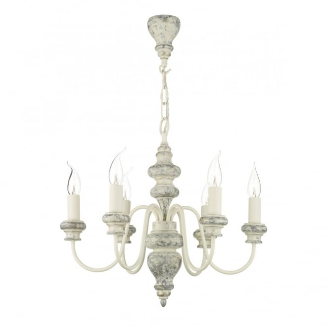 VERONA distressed cream ceiling light