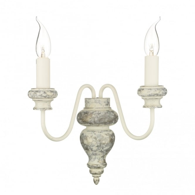 The David Hunt Lighting Collection VERONA distressed cream wall light