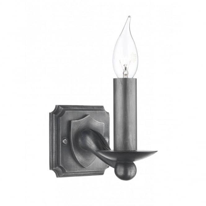 The David Hunt Lighting Collection WARWICK black iron wall light