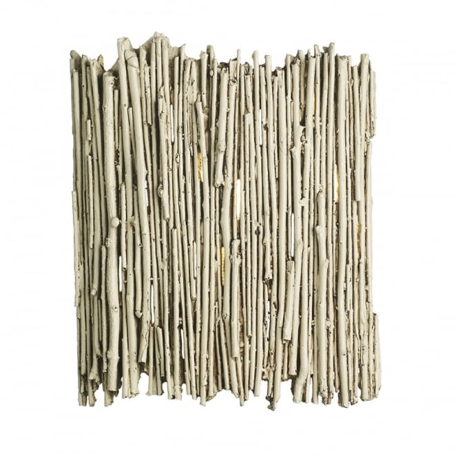 The David Hunt Lighting Collection WILLOW rustic twig style wall light in an old ivory finish