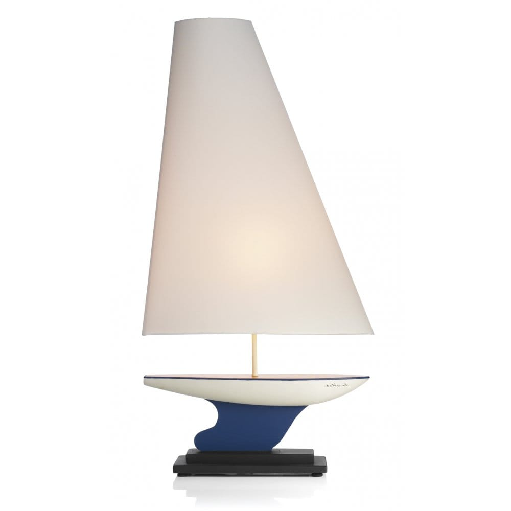yacht nautical table lamp sail shade personalise in own. Black Bedroom Furniture Sets. Home Design Ideas