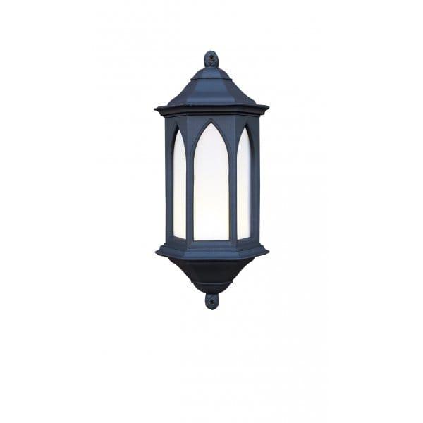 Traditional Black Gothic Style Garden Wall Lantern