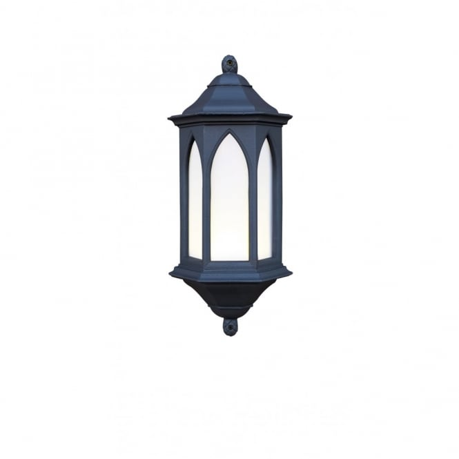 Black Garden Wall Lights : Traditional Black Gothic Style Garden Wall Lantern
