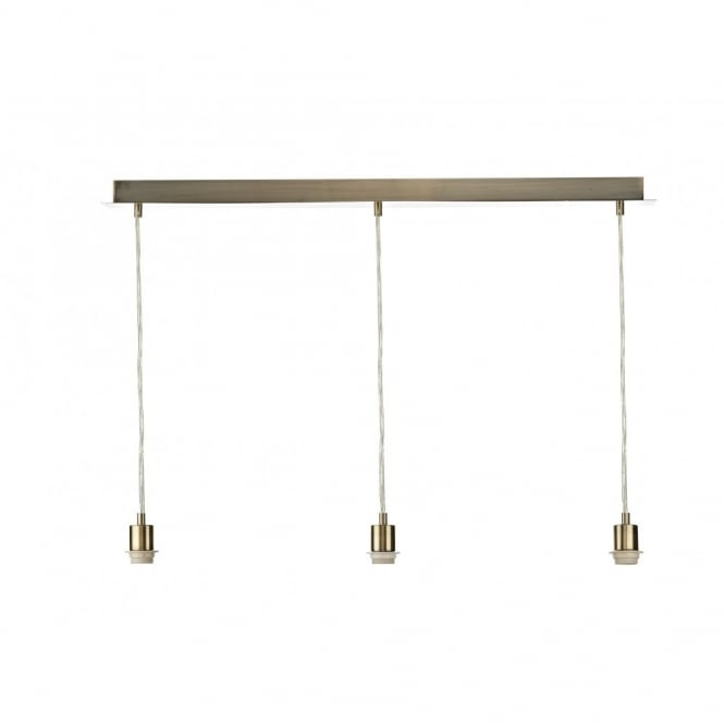 The Lighting Book 3 LIGHT PENDANT SUSPENSION antique brass