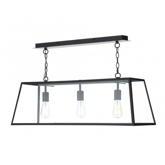 The Lighting Book ACADEMY 3 light pendant (black)