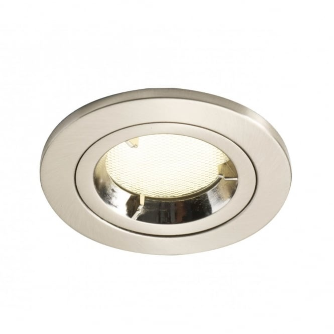 Ace double insulated recessed spot light for ceilings ace double insulated satin chrome low energy recessed spot light mozeypictures Images