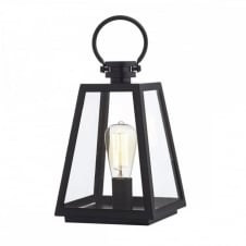 ACRE matt black metal IP44 rated table lantern