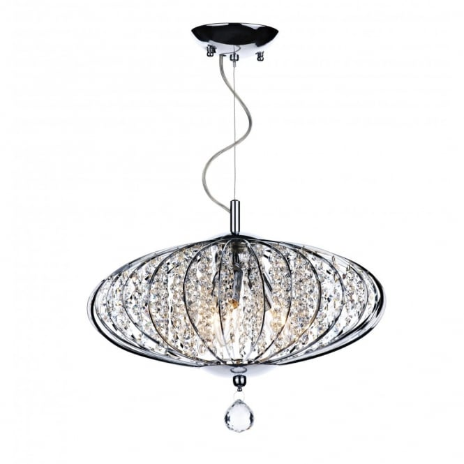 The Lighting Book ADRIATIC chrome & glass high ceiling pendant