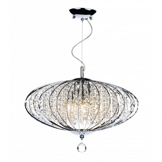 The Lighting Book ADRIATIC large chrome & glass high ceiling pendant