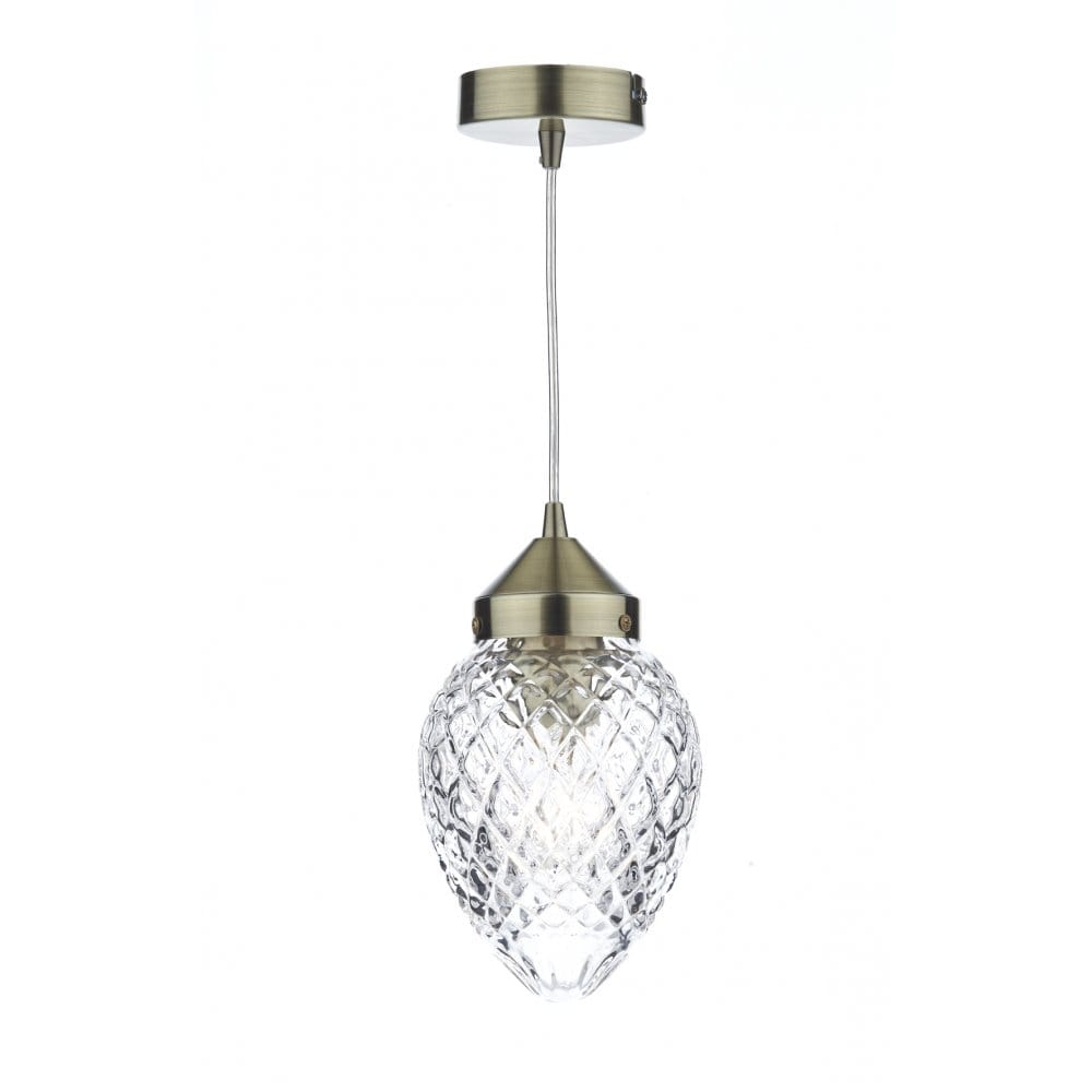 decorative contemporary antique brass glass ceiling pendant