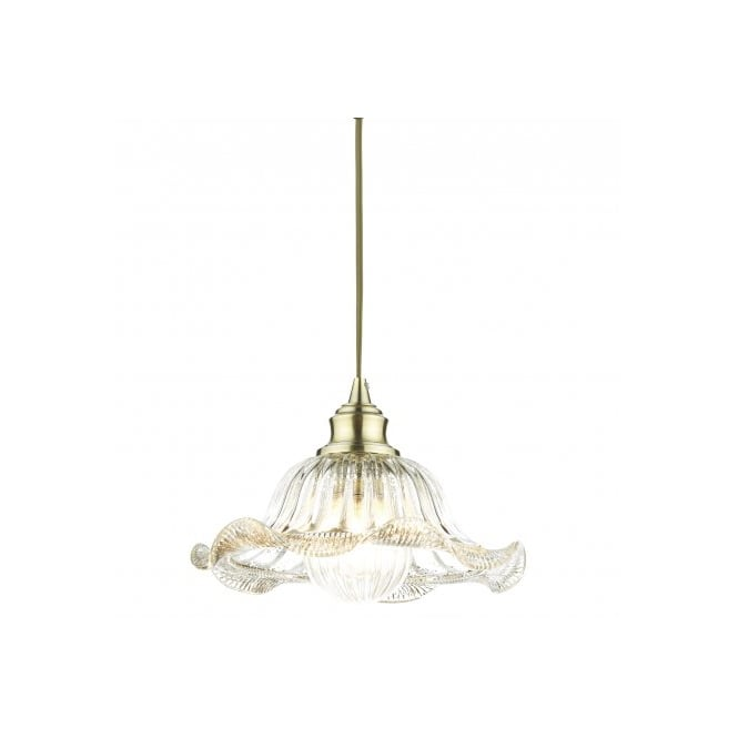The Lighting Book AILEEN antique brass ceiling pendant with decorative glass shades