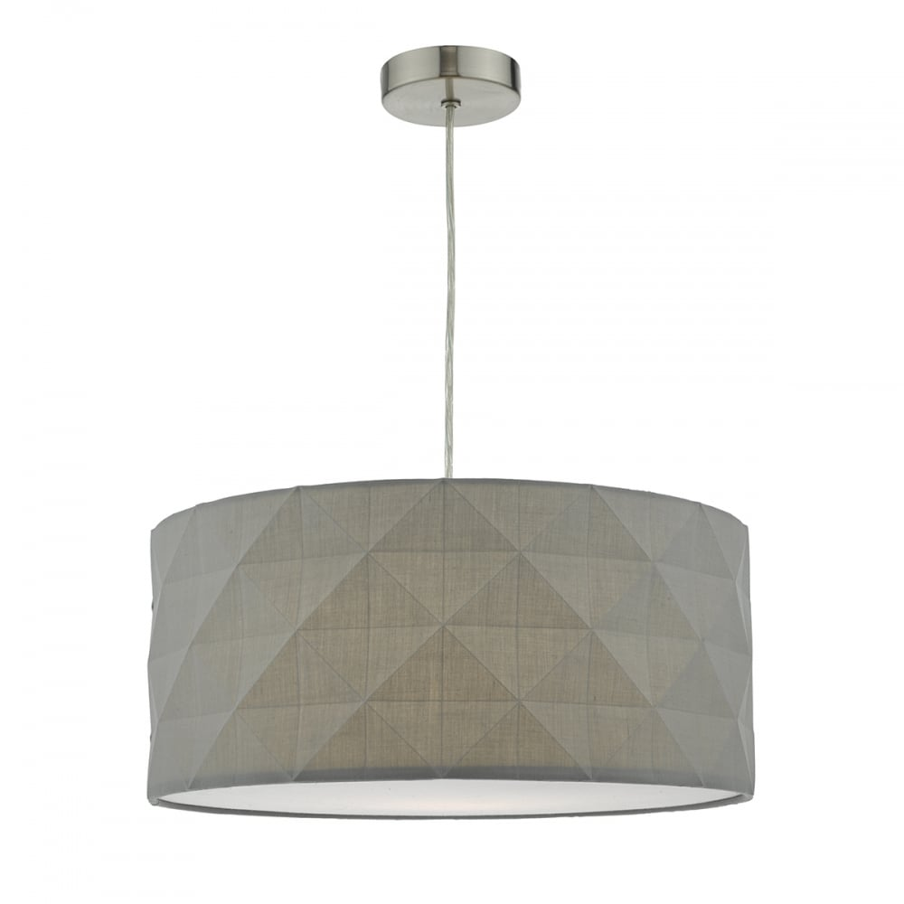 The lighting book easy fit ceiling lights and shades modern faceted design cotton easy fit pendant shade aloadofball Gallery