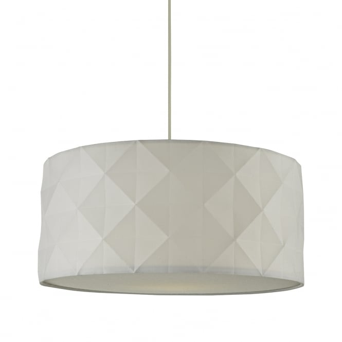The Lighting Book AISHA faceted white cotton easy fit pendant shade
