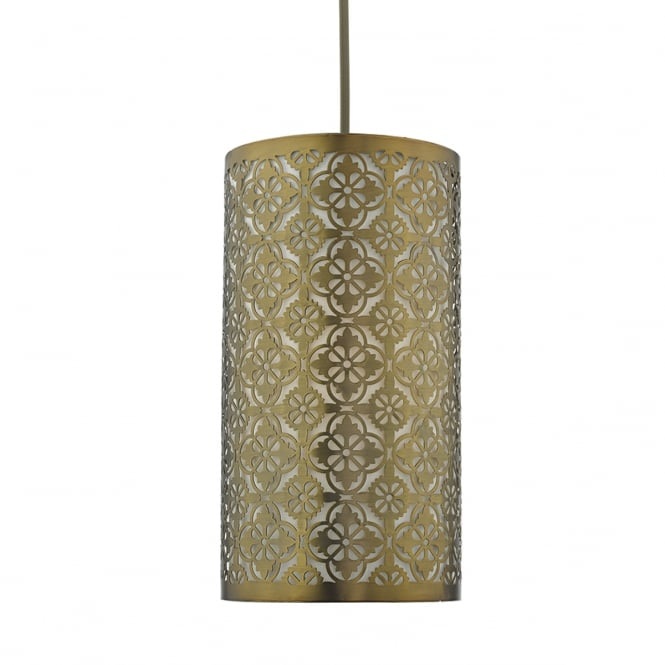 AKIRA bronze fret work easy fit pendant shade