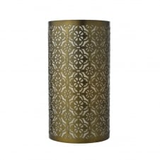 bronze fret work table lamp with cotton inner
