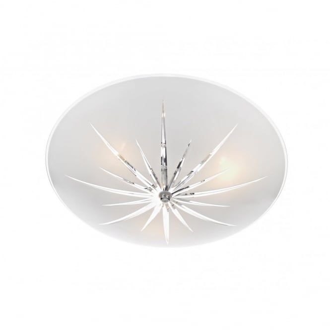The Lighting Book ALBANY circular glass semi-flush fitting ceiling light