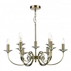 ALLEGRA 9 light antique brass ceiling pendant