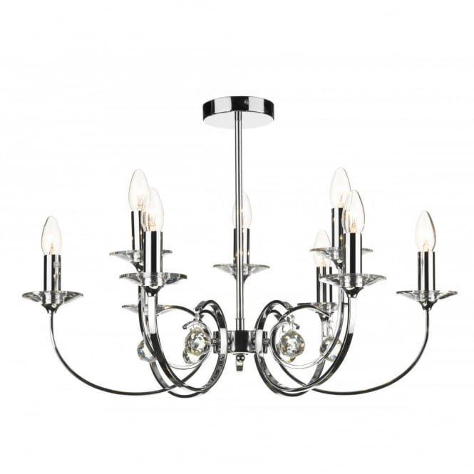 The Lighting Book ALLEGRA chrome ceiling pendant for high ceilings