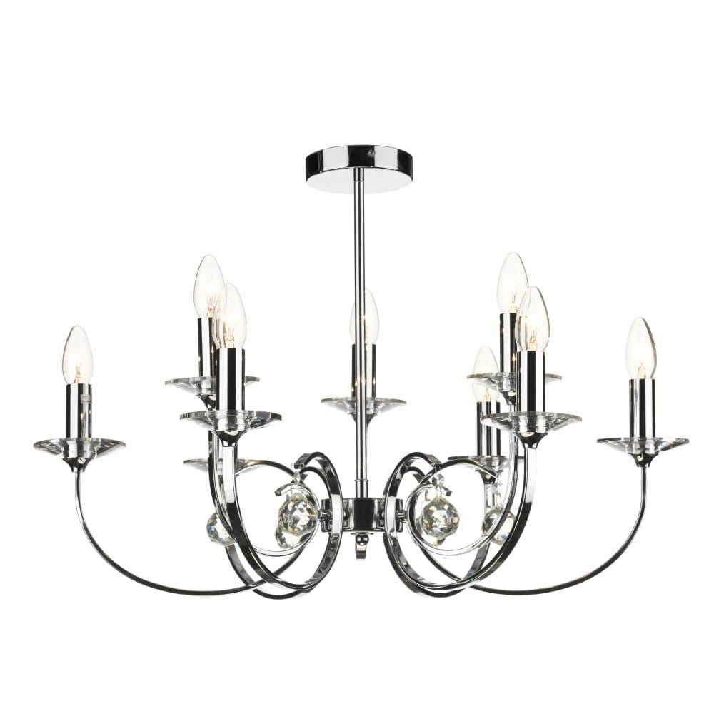 Allegra Large Chrome Ceiling Pendant For High Ceilings
