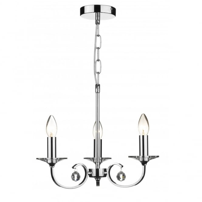 ALLEGRA dual mount 3 light chrome ceiling pendant