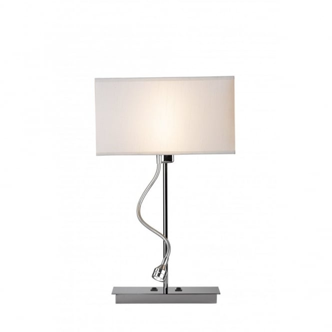 Amalfi Modern Cream Table Lamp With LED Reading Arm