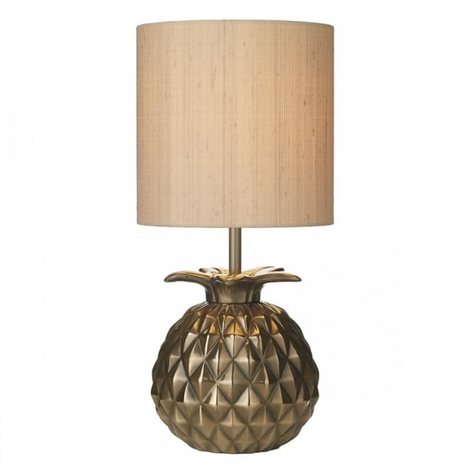 Charmant Table Lamp Interesting Geometric Pineapple Lamp With Metallic Finish