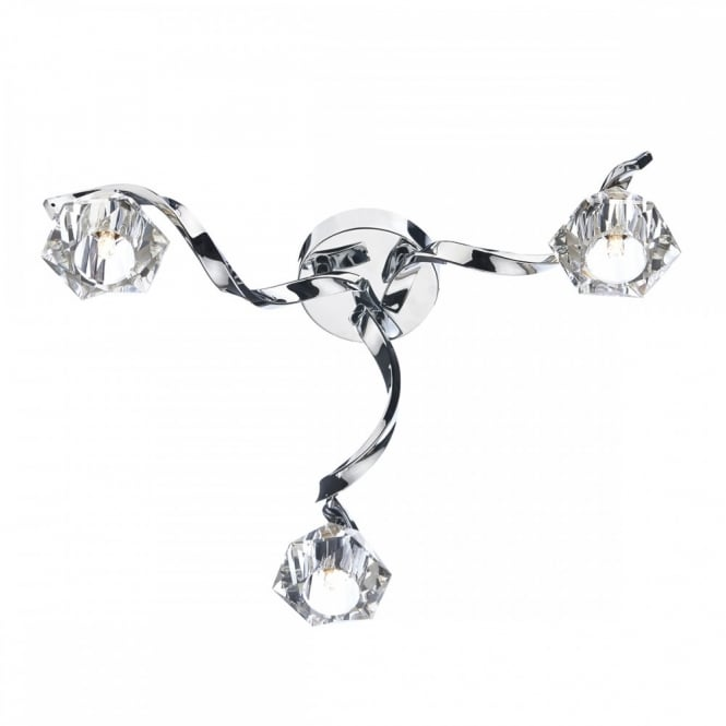 The Lighting Book ANCONA modern 3 light flush ceiling light in chrome