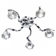 ANCONA modern 5 light flush ceiling light in chrome