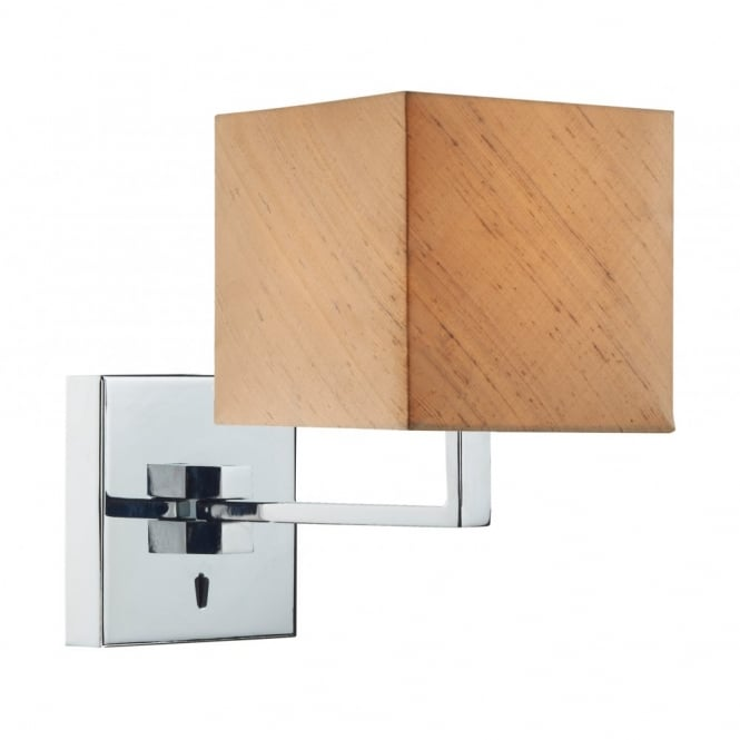 The Lighting Book ANVIL chrome swing arm wall light with shade